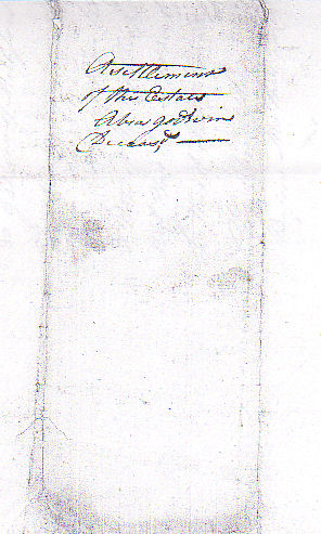 Settlement of the Estate of Abiah Godwin, Deceased