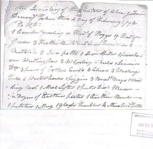 Inventory of estate of Abiah Godwin, page 1