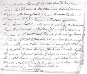 Inventory of estate of Abiah Godwin, page 2
